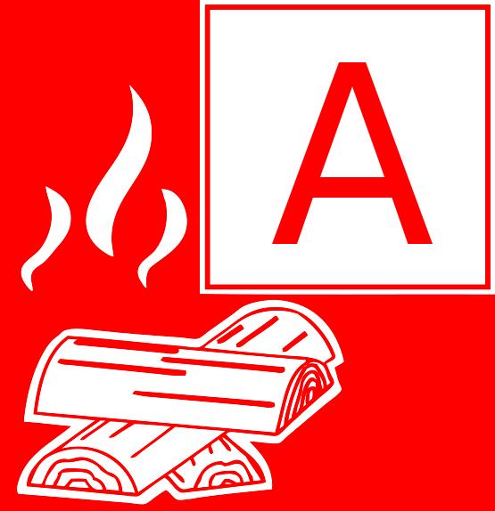Symbol Brandklasse A