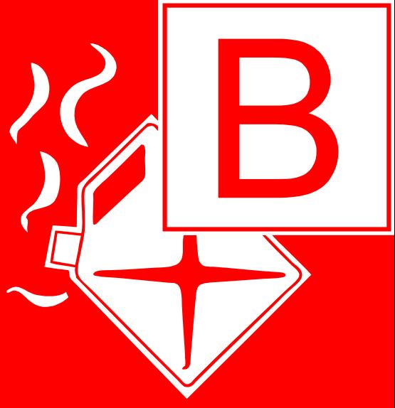 Symbol Brandklasse B