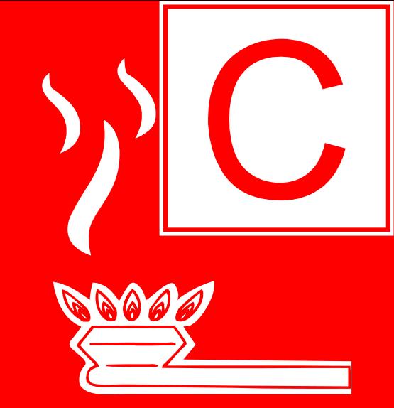 Symbol Brandklasse C