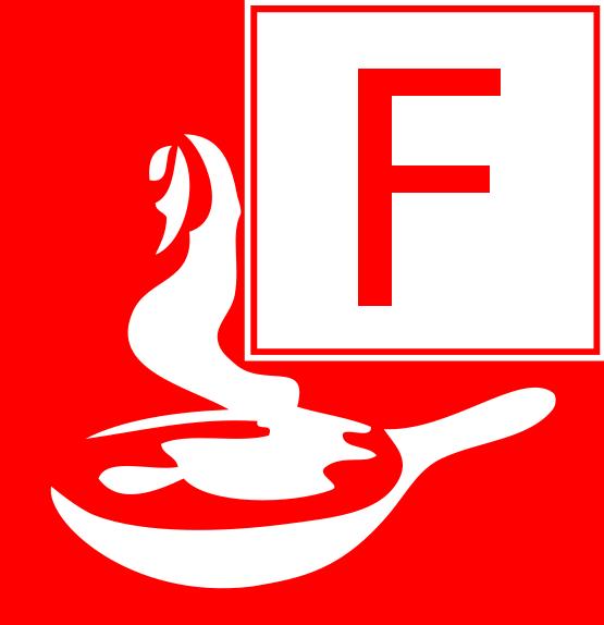 Symbol Brandklasse F